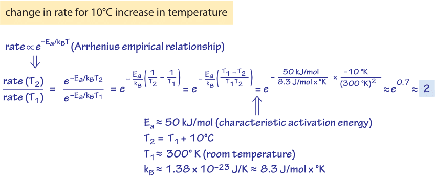 How does temperature affect rates and affinities?